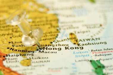 hong kong city pin on the map