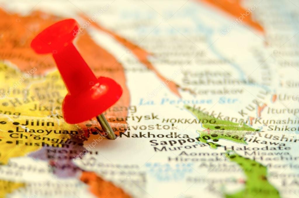Nakhodka City Pin On The Map Stock Photo Digidream - Nakhodka map