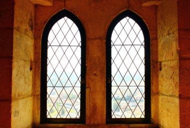 Detail of some old windows, Leiria, Portugal