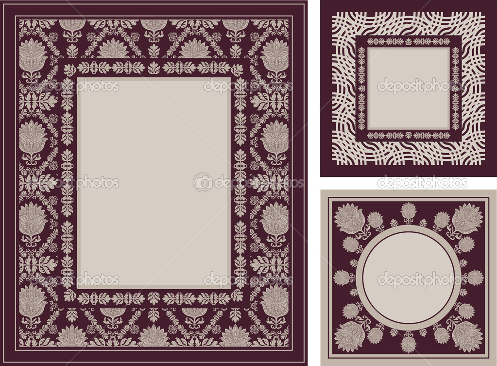 Bilderrahmen verzieren ornamente  dekorative Bilderrahmen, eleganten floralen Ornamente — Stockfoto ...