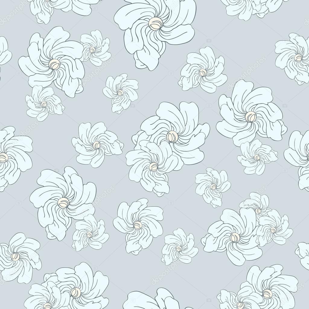 Fondo Floral Vintage Decorativo De Patrones Sin Fisuras Con Flores
