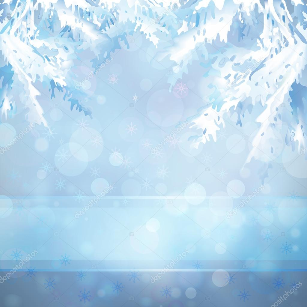 Christmas background with Christmas tree branches