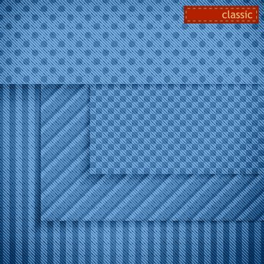 Fabric patterns for website background design. Set