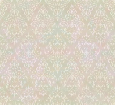 Vintage abstract vector seamless pattern with subtle grunge texture for background design