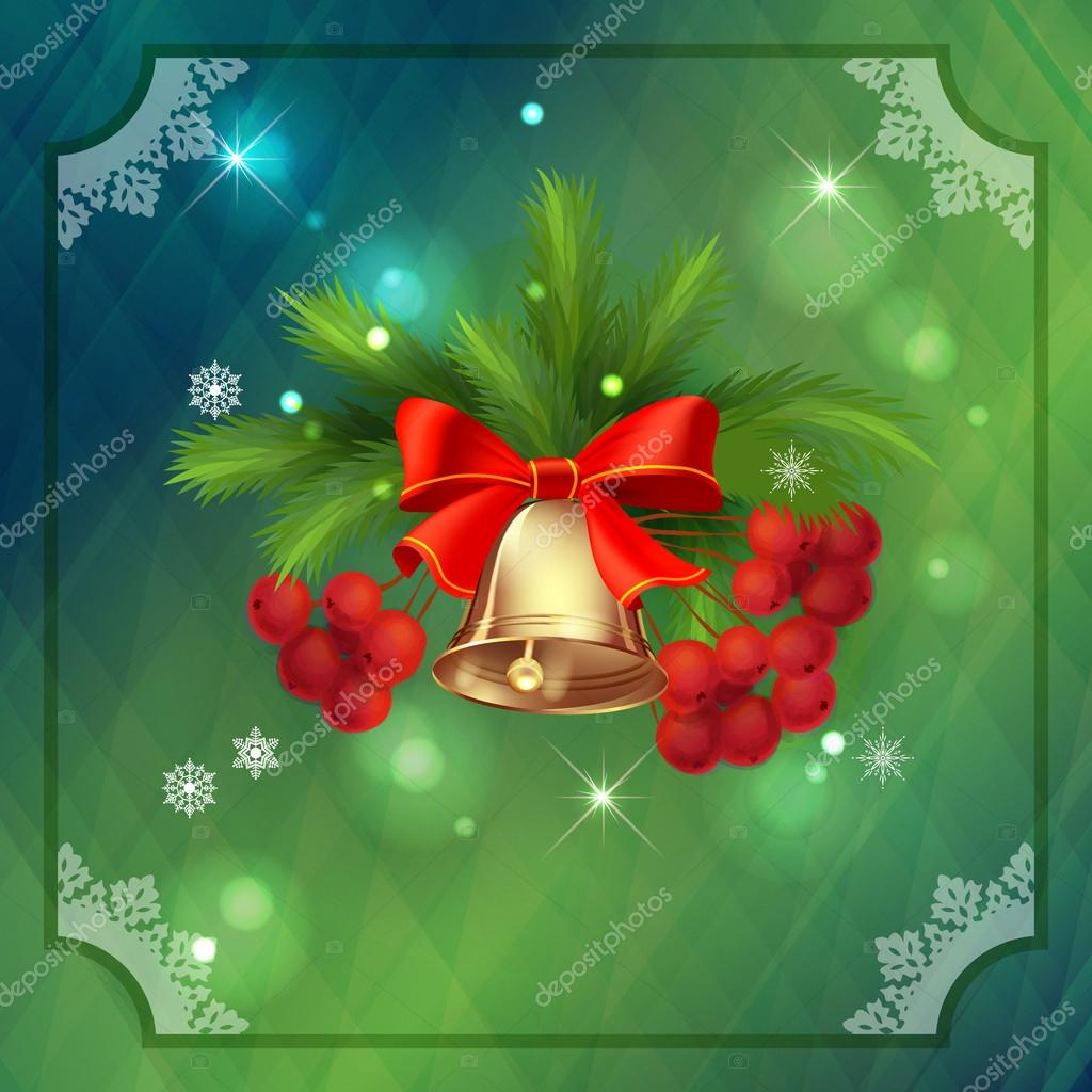 Vector tarjeta de vacaciones de Navidad. composición de Navidad con ...