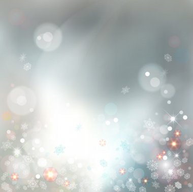 Christmas Abstract Bokeh Vector Background