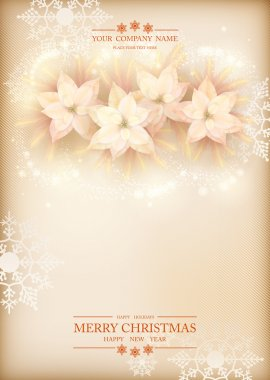 Christmas Poinsettias Celebration Background