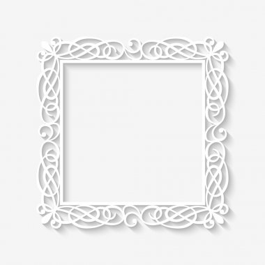 Vector vintage white frame background