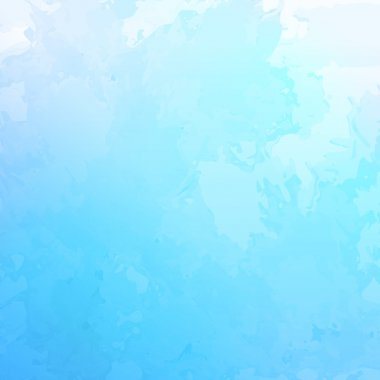 Vector abstract watercolor background with subtle grunge texture as cloudy blue sky clip art vector