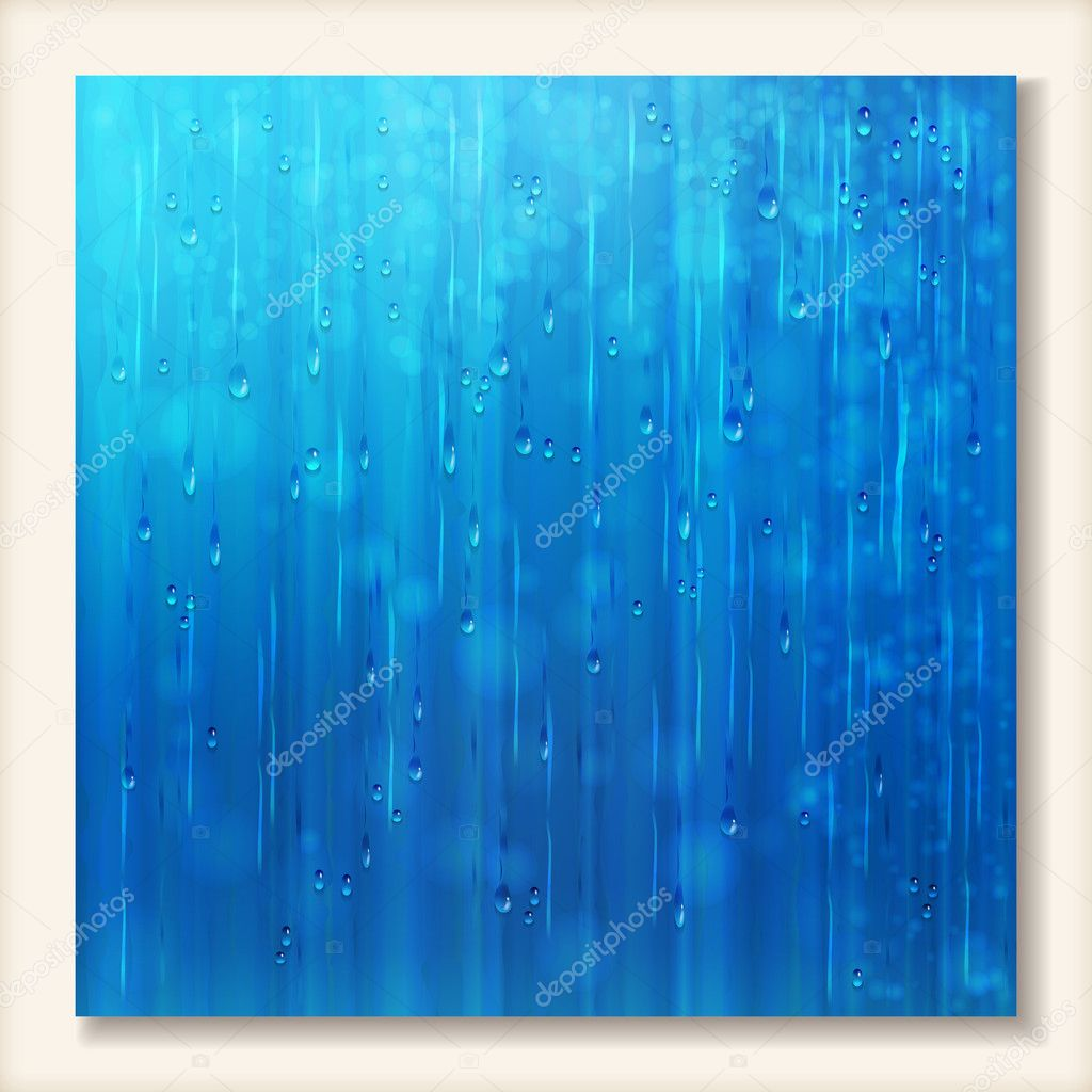 Blue shiny rain Abstract water background design