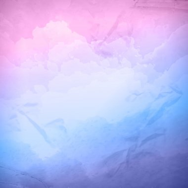 Watercolor vector cloudy sky background