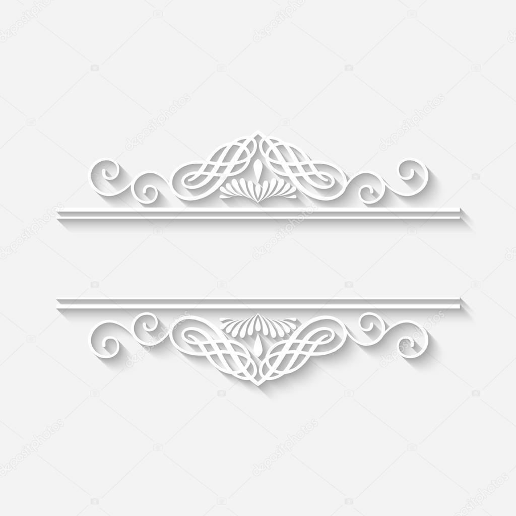 marco blanco vintage frontera Vector — Vector de stock © kostins ...