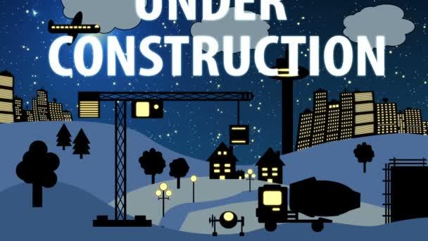 Cartoonnacht auf der Baustelle