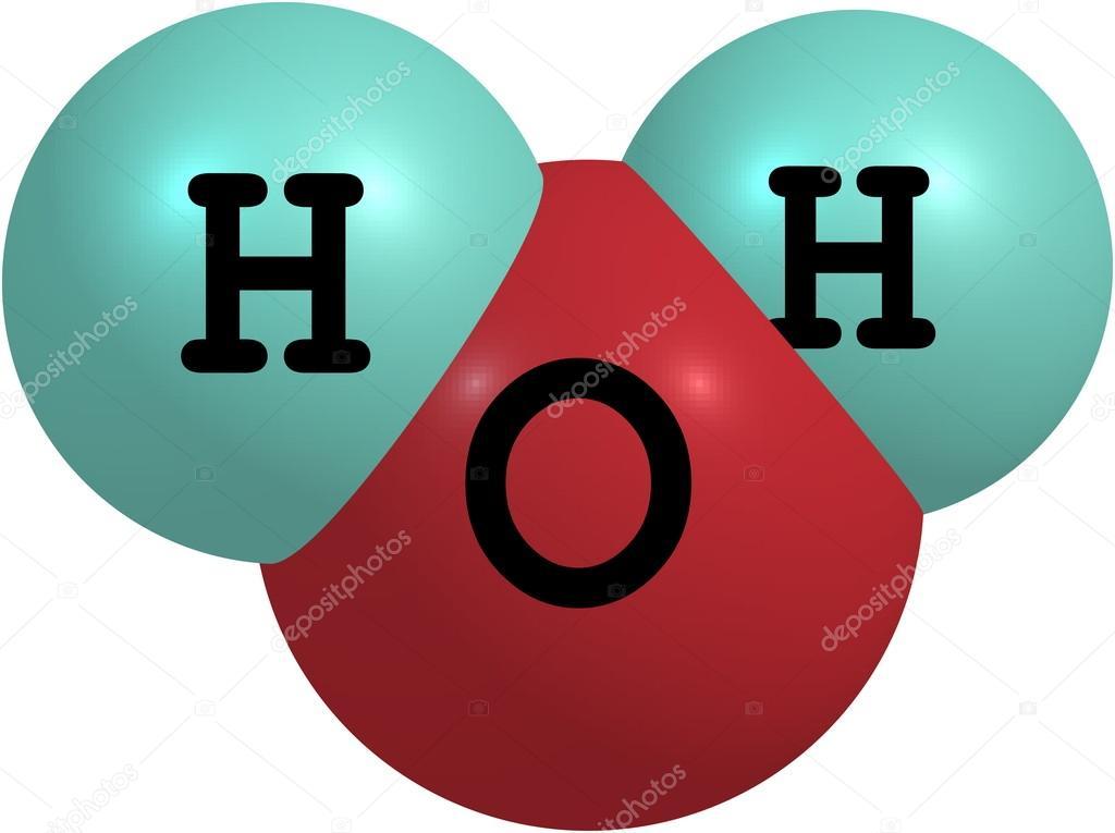 Estructura Molecular Del Agua H2o Aislada En Blanco Foto