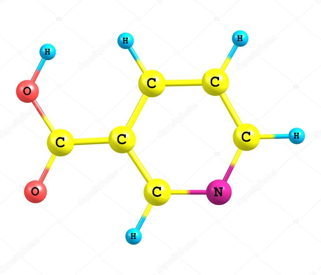 Imágenes Niacina Formula Estructura Molecular De Niacina