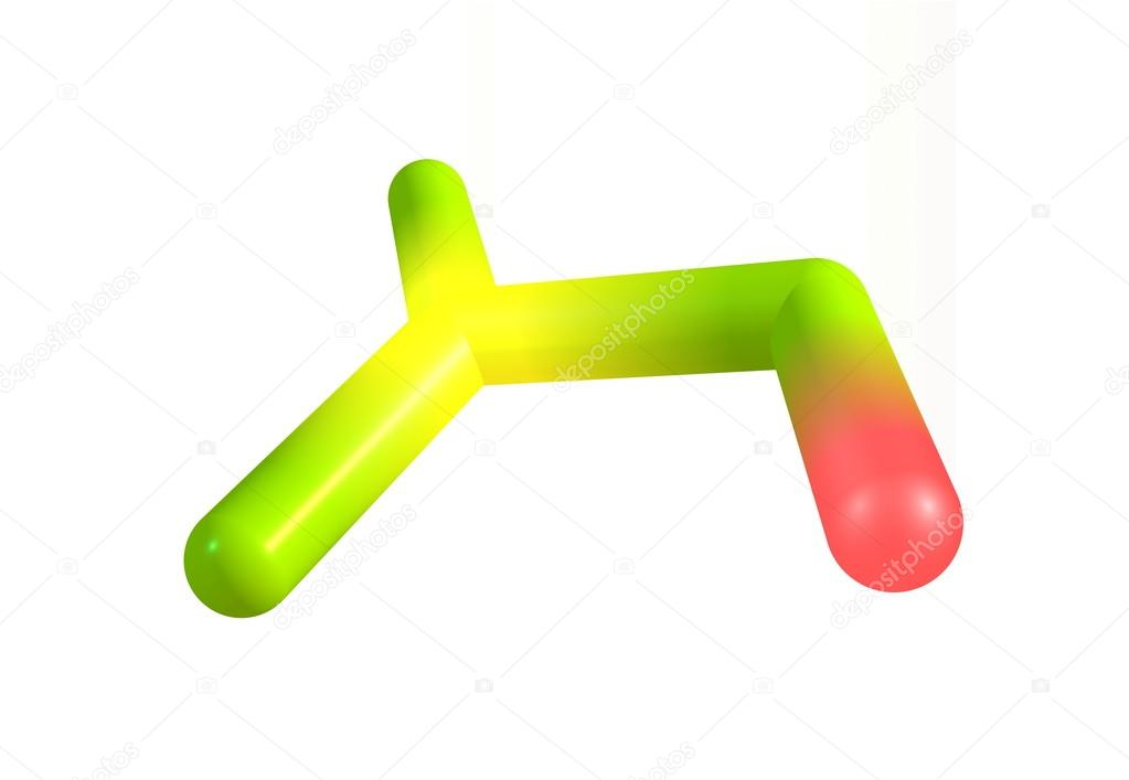 Nitric Acid Molecular Structure On White Stock Photo Olladavies