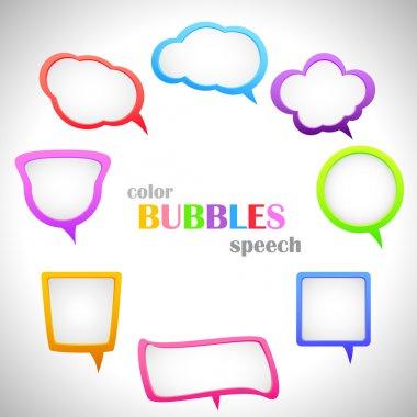 Color Speach Bubbles