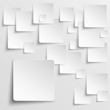 Paper squares abstract vector background