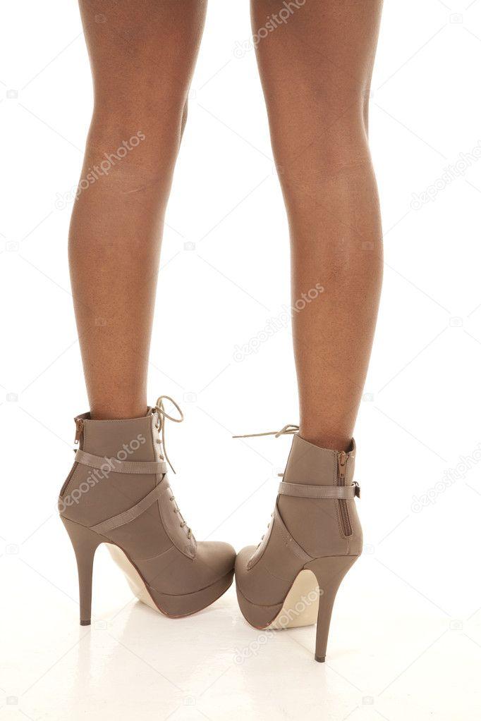 Heel of brown boots