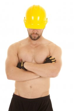 construction man head down