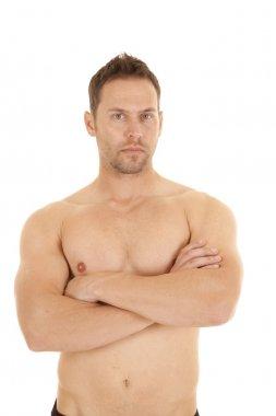 looking no shirt