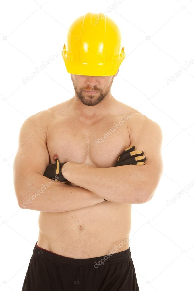 construction man head down