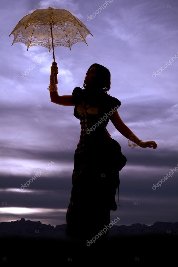 silhouette stand umbrella