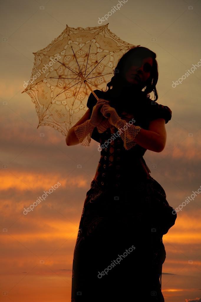 silhouette umbrella