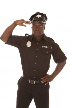Police officer solute