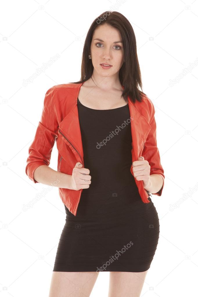 Vestido negro formal con chaqueta