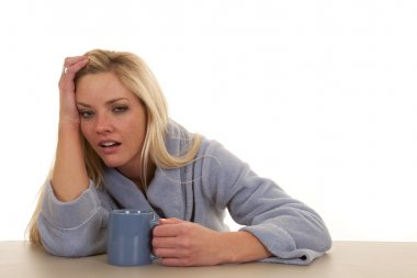 Tired woman cup