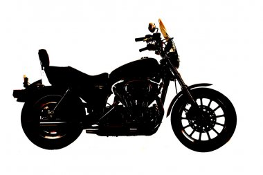 silhouette motorcycle side