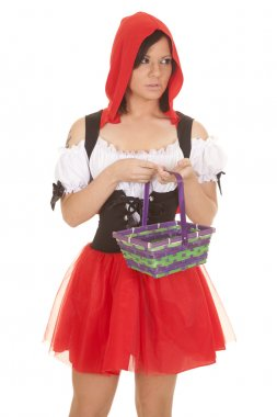 woman red riding hood basket