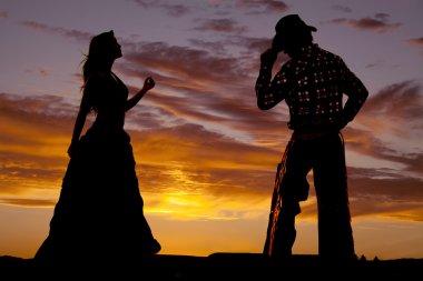 Couple western silhouette