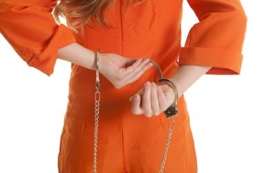 Woman take off handcuffs close