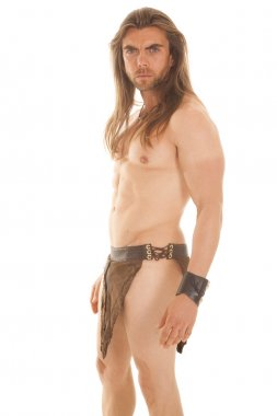 man loin cloth serious look