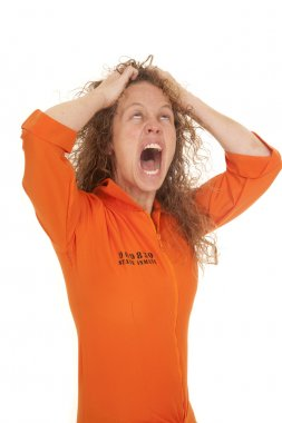 woman inmate hair crazy