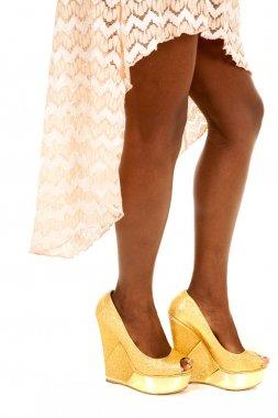 African American woman legs