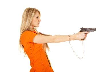 prisoner orange gun side point