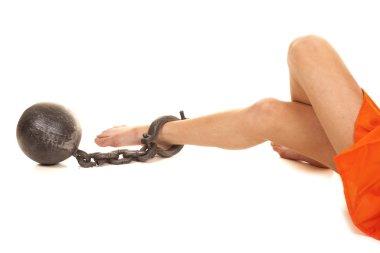 prisoner ball on ankle legs