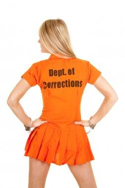 prisoner orange back look side