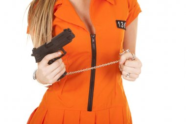 prisoner orange gun body front