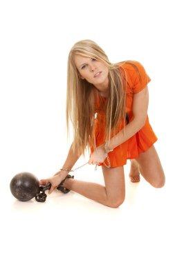 prisoner orange kneel ball