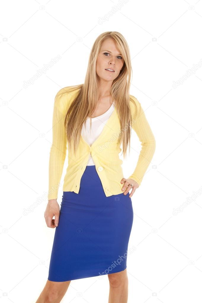 y falda Mujer amarilla de Alanpoulson45859037 stock © azul en graveFoto lc1FKJ