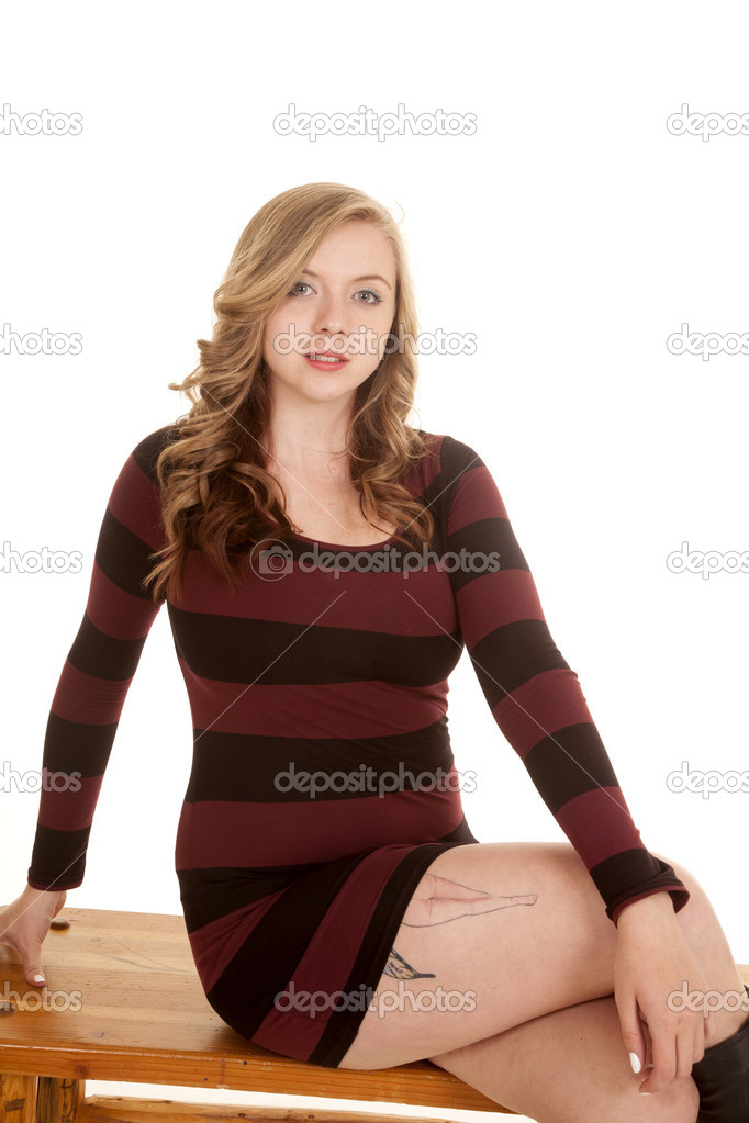 Black In Striped Dress Stock Photo Alanpoulson 47653121