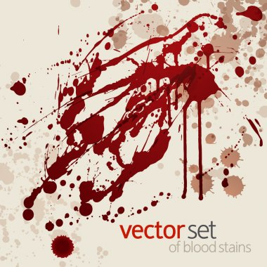 Splattered blood stains, set 5