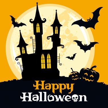 Halloween card, vector illustration