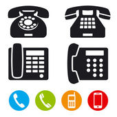 Fotografie telefon vektorové ikony