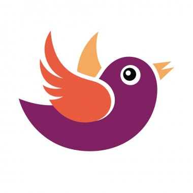 Bird abstract vector illustration stock vector