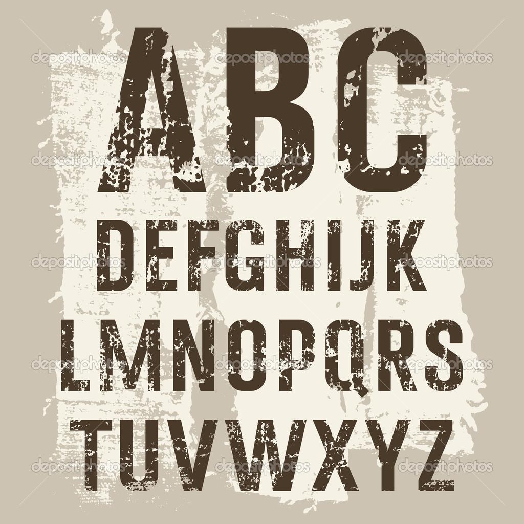 Grunge Letters vector set